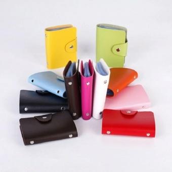 Dompet Kartu Mini IMPORT isi 24 slot Leather SC 012 (Hotpink