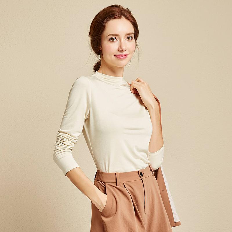 Putih Perempuan Pullover Tank Top Yang Bisa Dipadukan Sutra Cerah Sweater Bagian Tipis Sweter (Beige