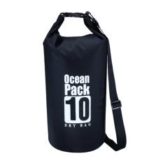 PVC Waterproof Storage Dry Sack Bag Pouch Beach Outdoor Storage Bag(Black) - intl