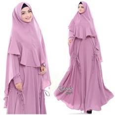 QANIA SYARI - Baju Muslim Murah Gamis Syari Terbaru Busana Fashion Pesta Full Bubble Pop [
