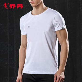 Qiaodan laki-laki celana lengan pendek celana pendek musim panas olahraga t-shirt (XHS2371217 putih [jas mengambil celana dan pakaian])