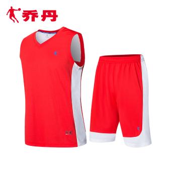Qiaodan merajut pria musim panas cepat kering pakaian basket (XNT2372121 Hong/putih) (XNT2372121 Hong/putih)
