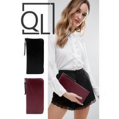 Quincy Label Leowi Puzzle Wallet / Dompet Wanita PREMIUM - Merah Maroon