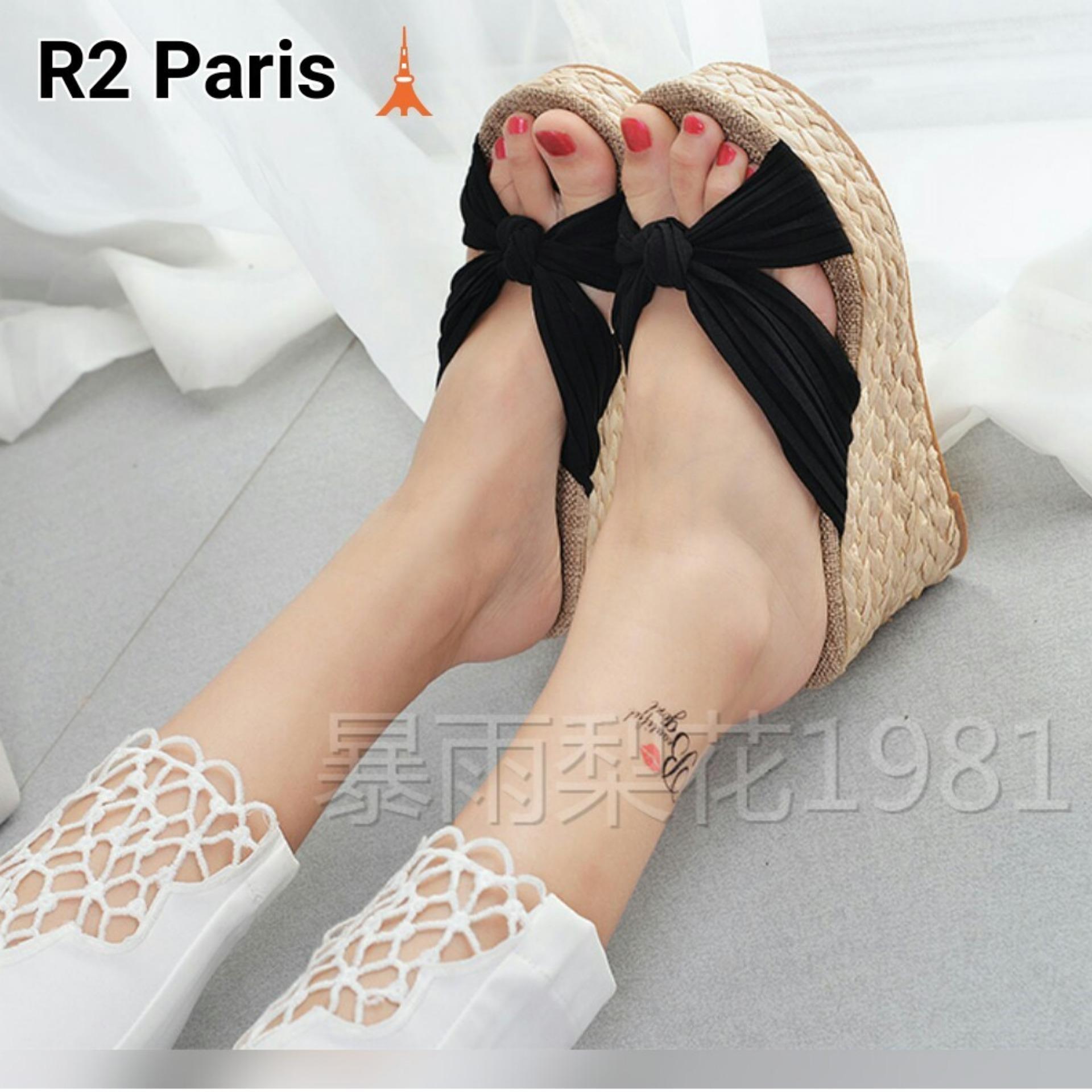 R2 Paris Sepatu Wedges Straps Plesi Pink - Daftar Harga Terbaru dan ... 94a697f57a