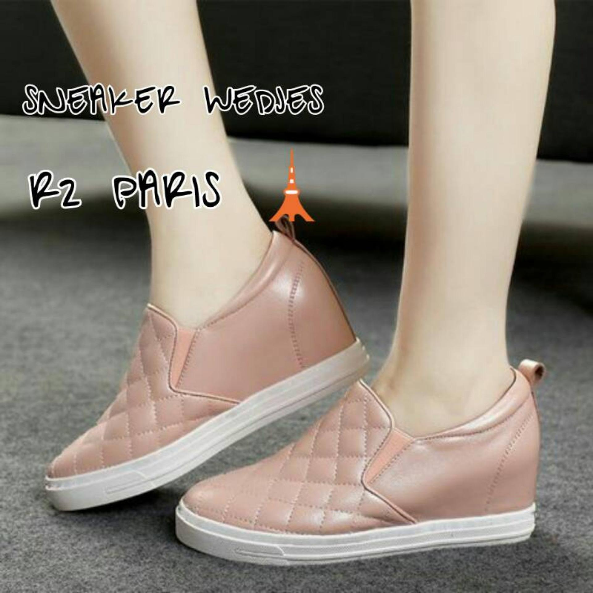 Flash Sale R2Paris Sepatu Kets Slip On Elin Salem/Peach