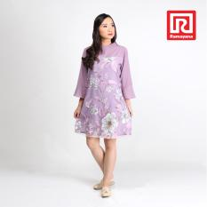 Ramayana - Jj Casual - Dress Hyeri Import Kaca Kombinasi Woolpeach Ungu - Jj Casual (07971387)