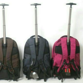 Ransel Trolley Polo Charter 1942 - 22 ZV Pink Rose Tas Backpack Trolly Travel Jumbo + Free raincover - 5