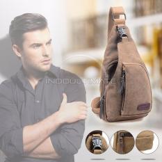 REAL PICTURE Tas Selempang Pria Keren / Waist Bag / sling bag / shoulder bag / 160712 - Brown