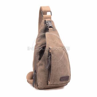 REAL PICTURE Tas Selempang Pria Keren / Waist Bag / sling bag / shoulder bag / 160712 - Brown - 2
