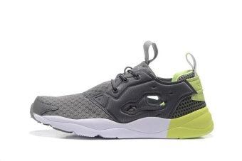 Harga Reebok Mens Sports Shoes Reebok Furylite Running Shoes JoggingShoes(grey and green) - intl