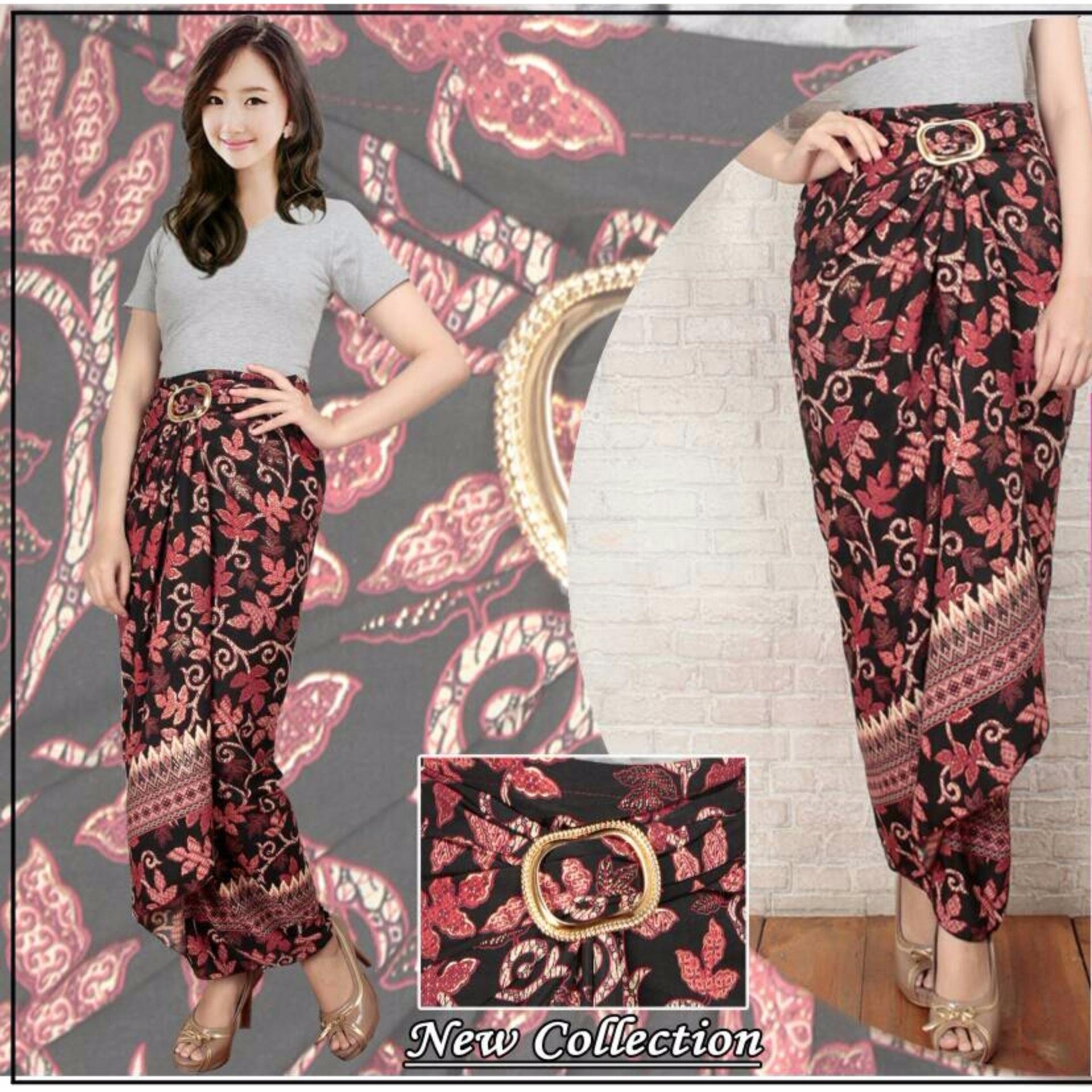 Rok lilit batik wanita jumbo long skirt Disa