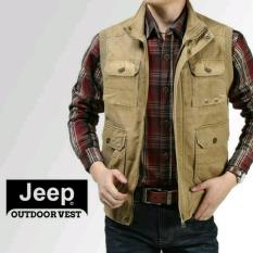 Rompi Jeep - Outdoor Vest - Warna Tan