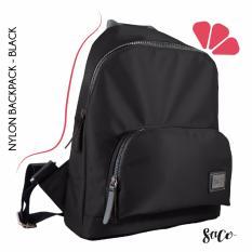SACO - NYLON BACPACK - BLACK