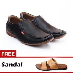 Salvo sepatu formal CA07 hitam free sandal L01 tan