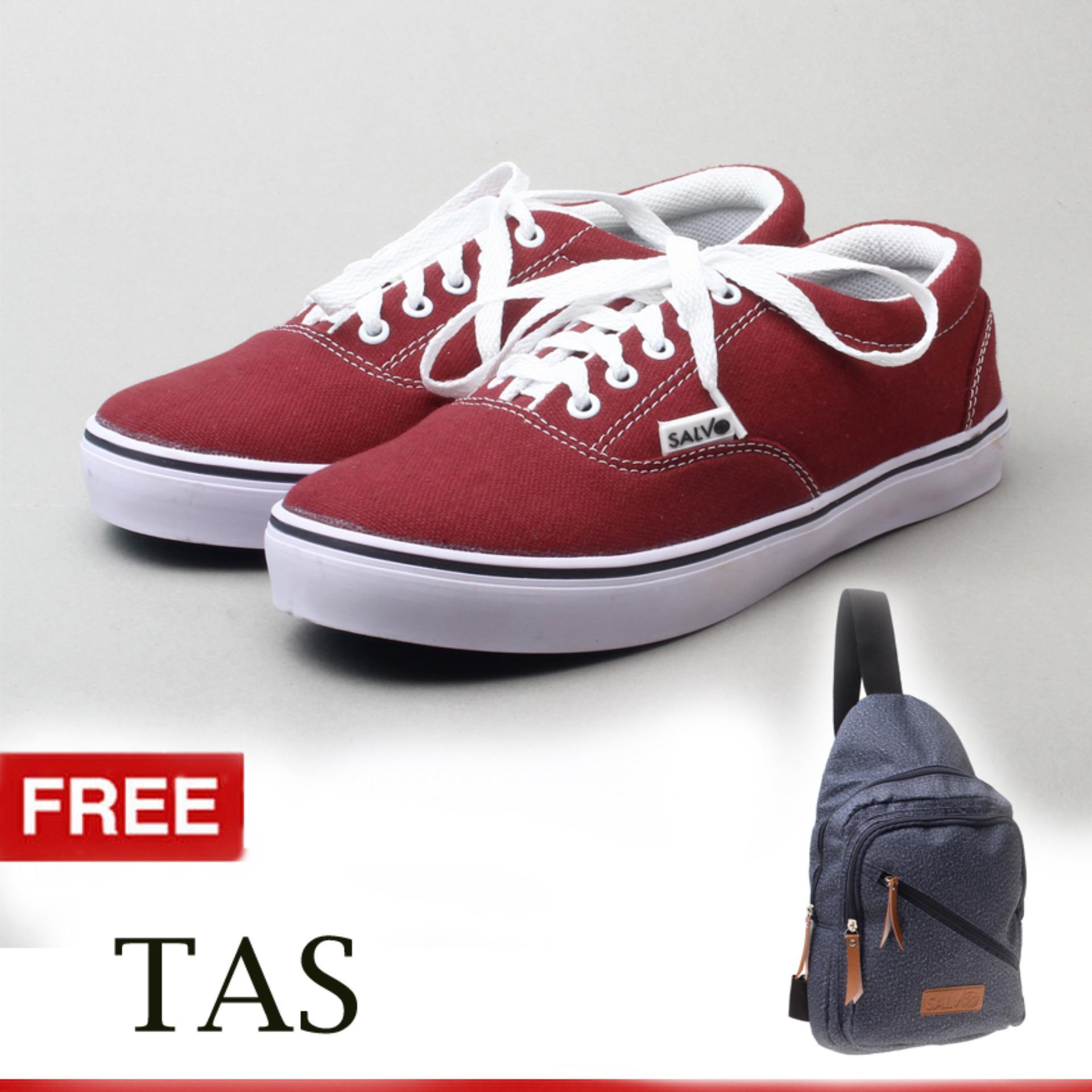 Yutaka Sepatu Kets Sneakers Abu-abu - Biru. Salvo sepatu kets sneakers dan kasual