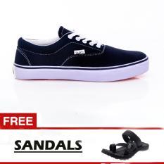 Salvo Sepatu pria A03 hitam free sandal SG01 hitam