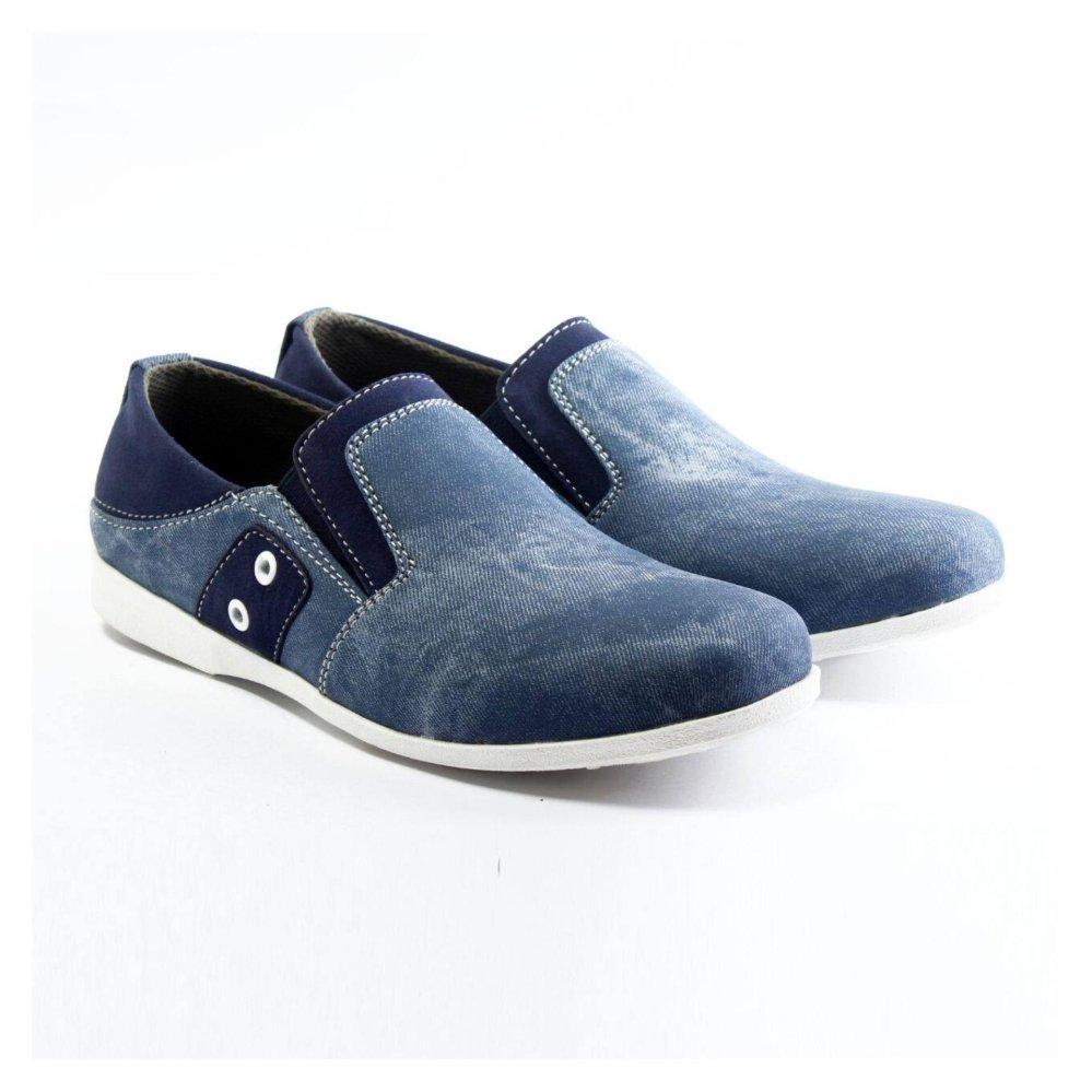 Anggaran Terbaik Salvo Sepatu pria denim SC Biru Harga Termurah a7e30e20a7