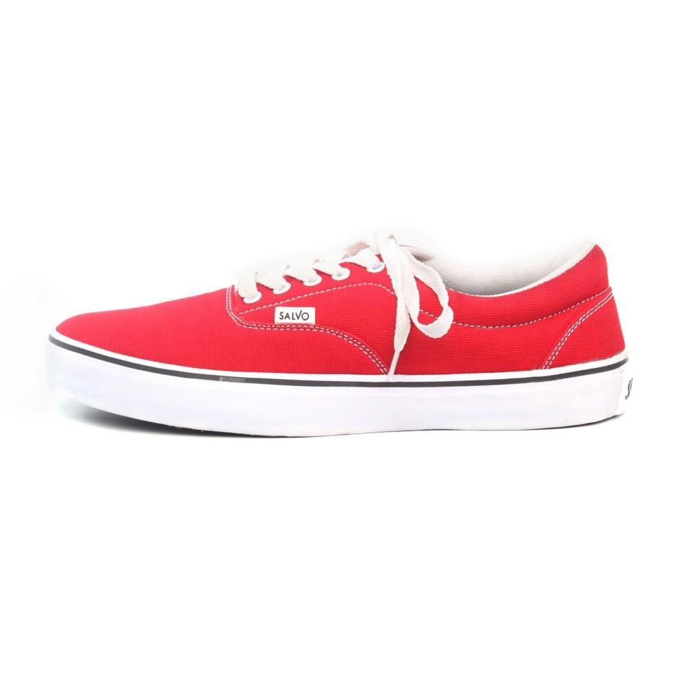 Salvo Sepatu Sneaker A02 Hitammerah Daftar Harga Terbaru Kasual Denim Pria Coklat A03 Merah