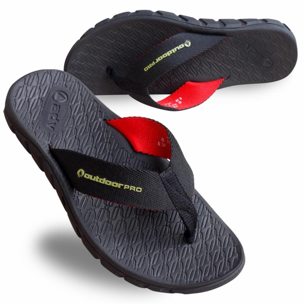 Sandal Outdoor Pro Helios Black Jepit Gunung