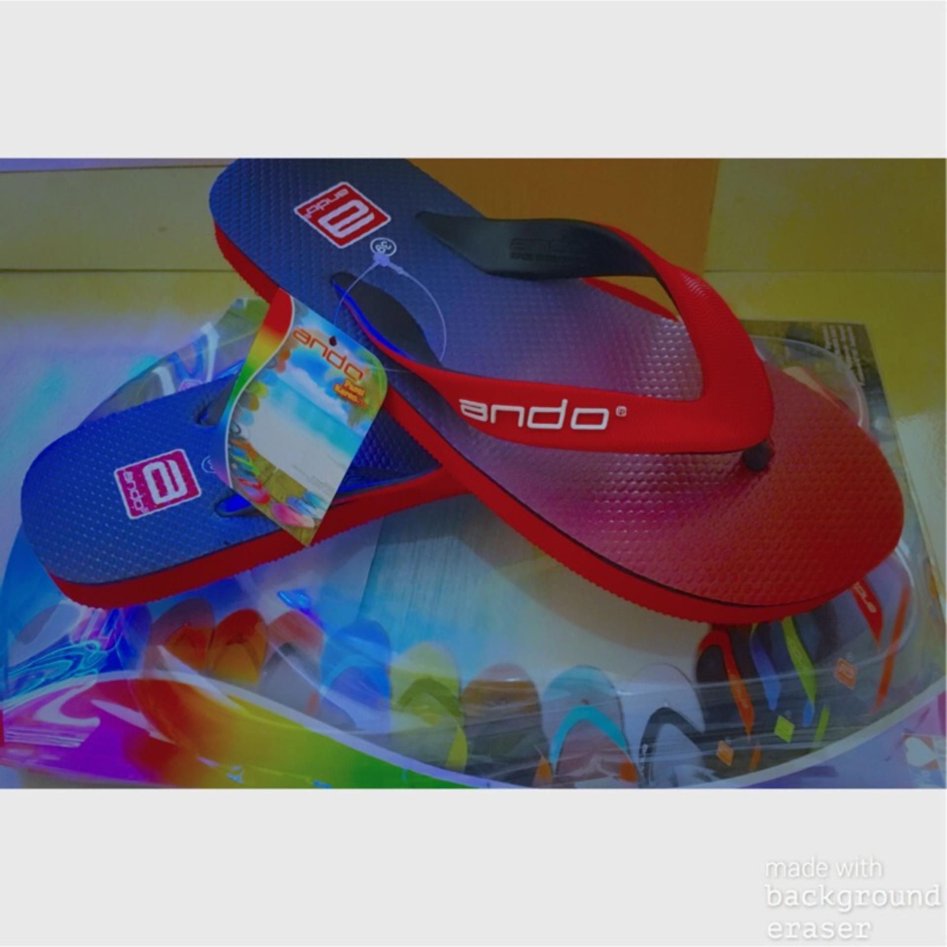 Flash Sale Sandal Pria/Wanita Hawaii Spectrum Merah/Biru