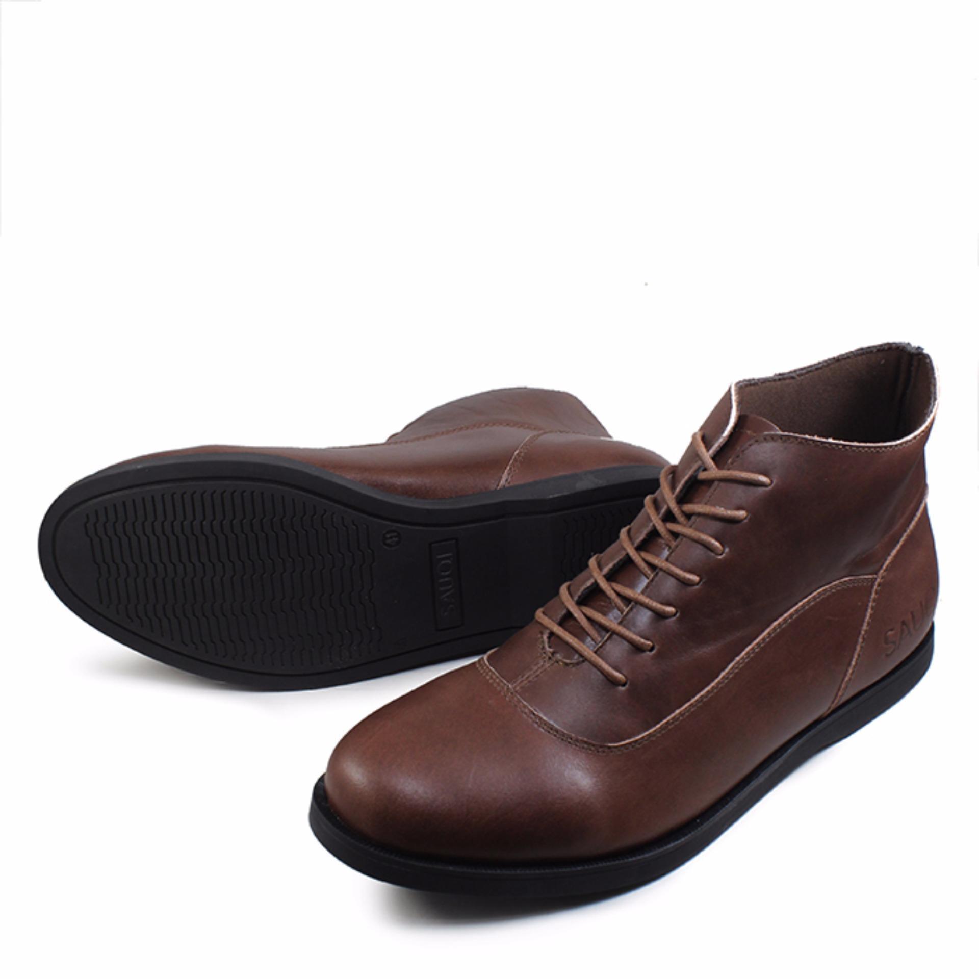 Sepatu Kasual Formal Pria Kulit Asli Toods Spectre Black Spec Dan Footwear Longwing Sauqi Boots Casual Kantor Brown