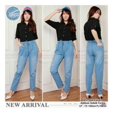 SB Collection Celana Panjang Dheena Long Pant Jeans SobekFuring-Biru Muda