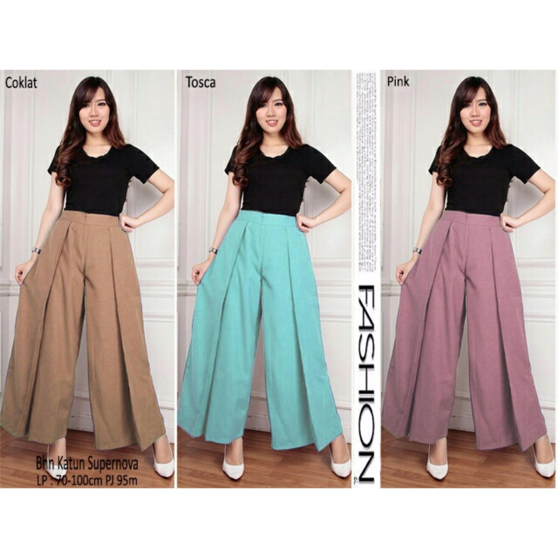 Flash Sale SB Collection Celana Panjang Lenna Kulot Layer - Tosca