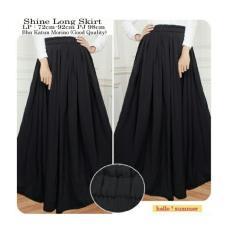 SB Collection Rok Shine Long Skirt -Hitam