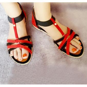 SDL-34 Sandal Wanita Flat Tali   Sendal / Sepatu Wanita - 2