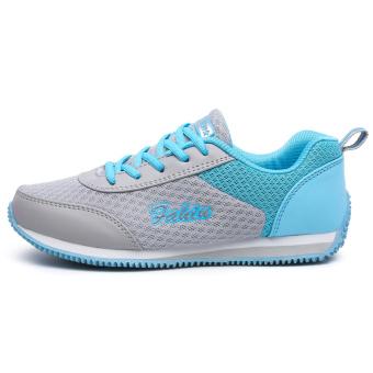 Detail Gambar Seanut Fashion Wanita Jala Bernapas Sprots Sepatu Lari (Biru) dan Variasi Modelnya