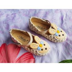 Sepatu Anak Kepala Boneka Karet Krem Baru PSA