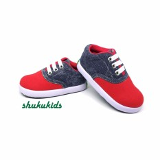 Sepatu Anak Laki-Laki Murah Trendy Casual Stylist Abu Merah by SHUKU