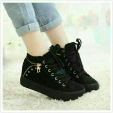 Sepatu Boot Fashion Wanita Hitam ABE