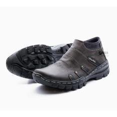 Sepatu Boot Pria Boots Touring Casual Kulit Asli Resleting Non Safety Handmade BKS07