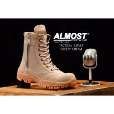 Sepatu Boots Pria Almost Delta U.S.A Tactical Resleting Safety Army Gurun Suede Mercy Tracking Hiking And
