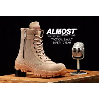 harga Sepatu Boots Pria Almost Delta U.S.A Tactical Resleting Safety Army Gurun Suede Mercy Tracking Hiking And Touring Lazada.co.id
