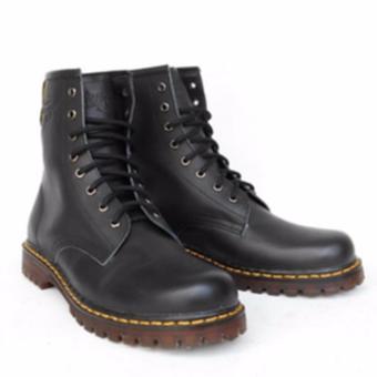 Gambar Sepatu Boots Pria Wanita [unisex] kulit Premium Type Docmart Merk: Handmade