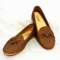 Minetha Kid Shoes Sepatu Anak Perempuan Balerina Flat Usia 1-12 tahun/Silver/