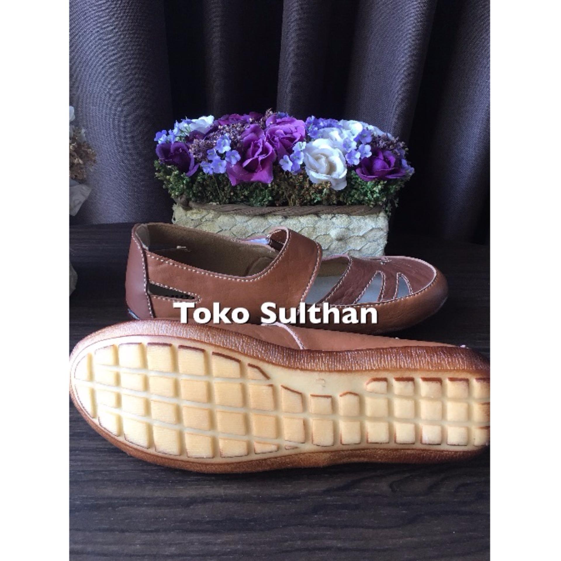 Sepatu Flat Shoes Yutaka - Coklat Tua Muda ...