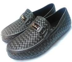 Sepatu Karet Pria Kinbos Motif Anyam