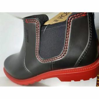 Harga Sepatu Kerja Boot AP Boot Karet PVC Waterproof Terbaru klik gambar. d43c4e9f8e