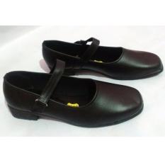 Sepatu Pantofel Formal Wanita Bertali Paskibra - Hitam