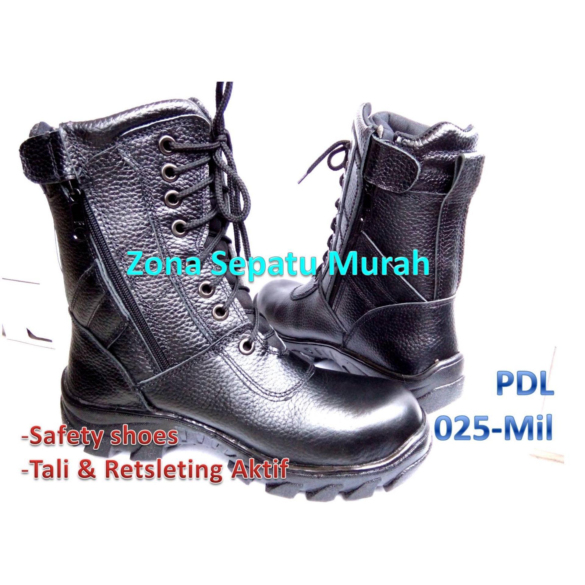 Sepatu Pdl Seri Kobra Mil Standar Tni Polri Security Dll Bestquality Ter Safety Model 025 Motif Kulit Jeruk Safetytni Best Quality