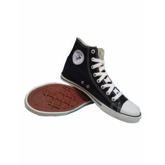 Sepatu Sekolah, Warrior Athena High Cut - Hitam/Putih - 2
