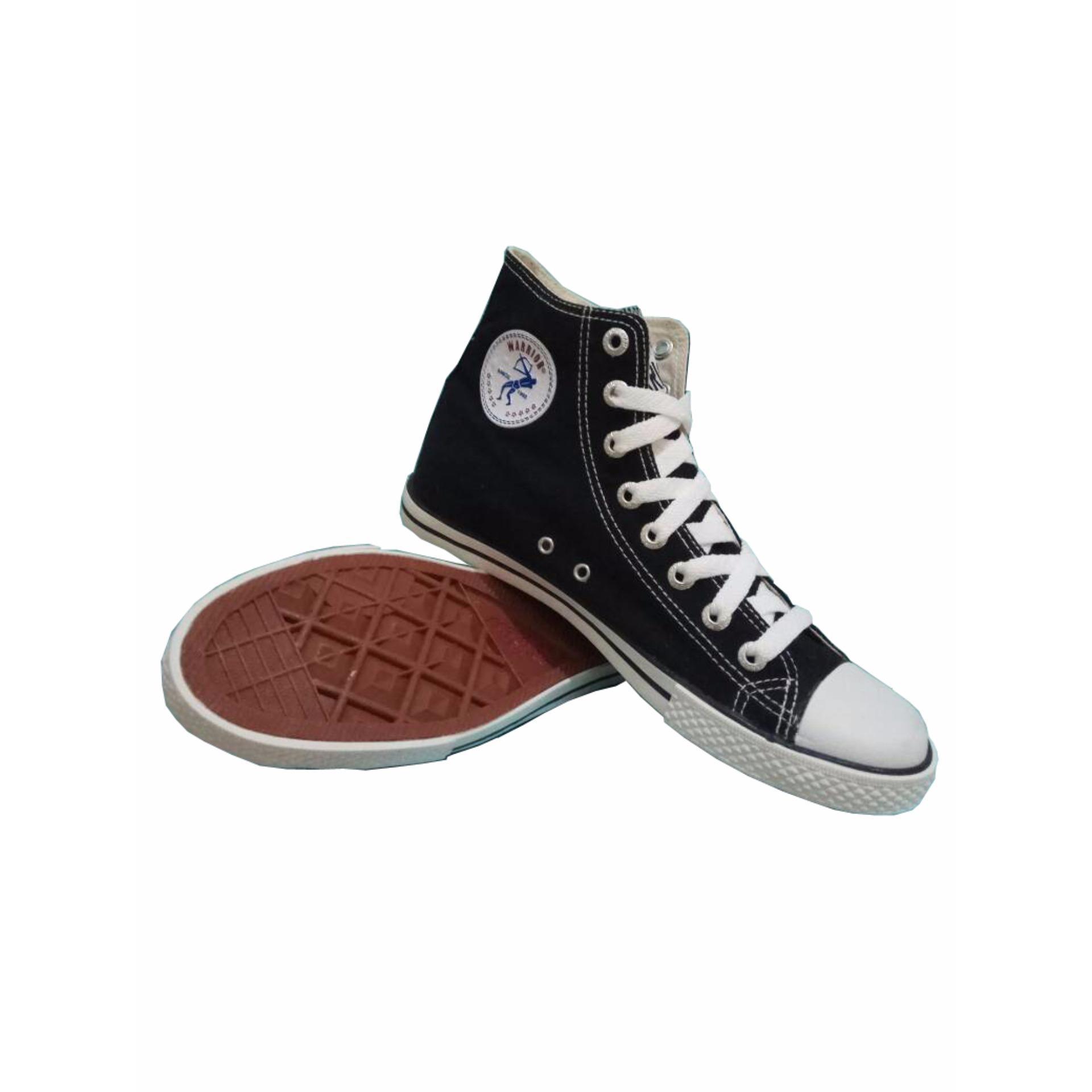 Pencari Harga Sepatu Sekolah Warrior Athena High Cut Hitam Putih