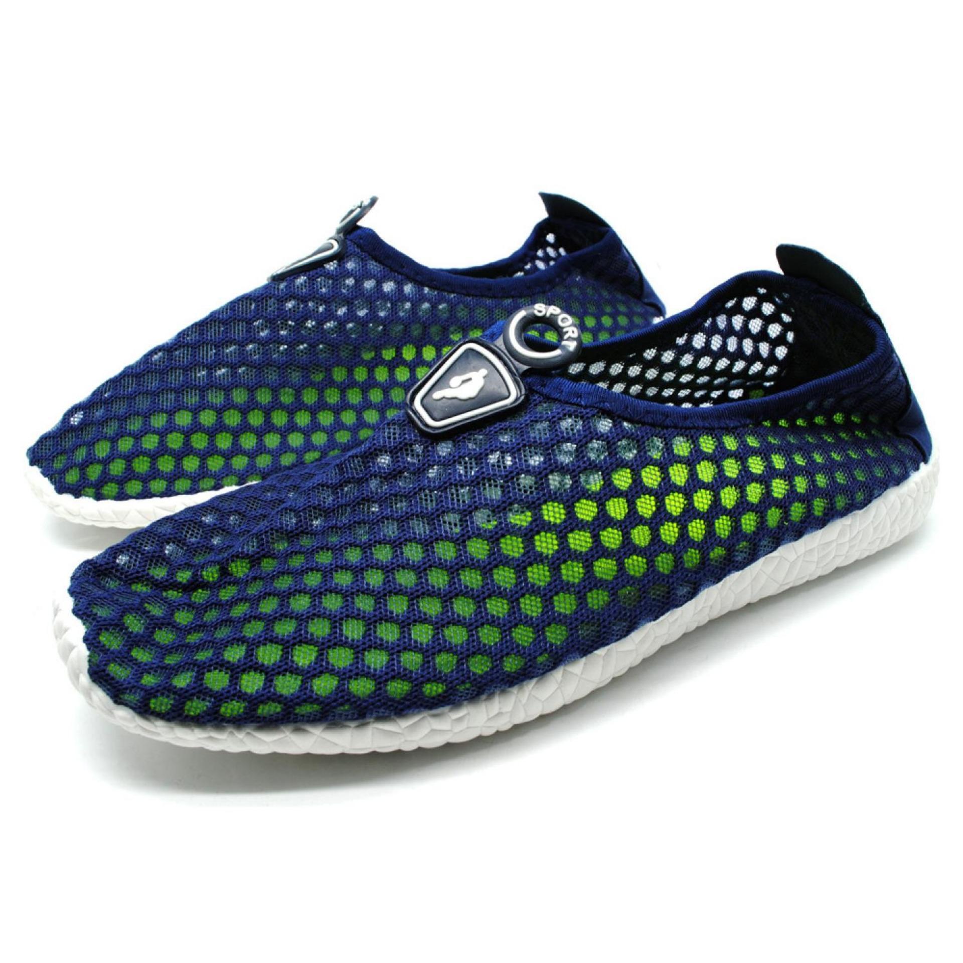 Sepatu Slip On Mesh Pria Blackgreen Daftar Harga Terbaru Dan Peak Basket Authentic Chalenger Real Sneakers E51041a Kasual