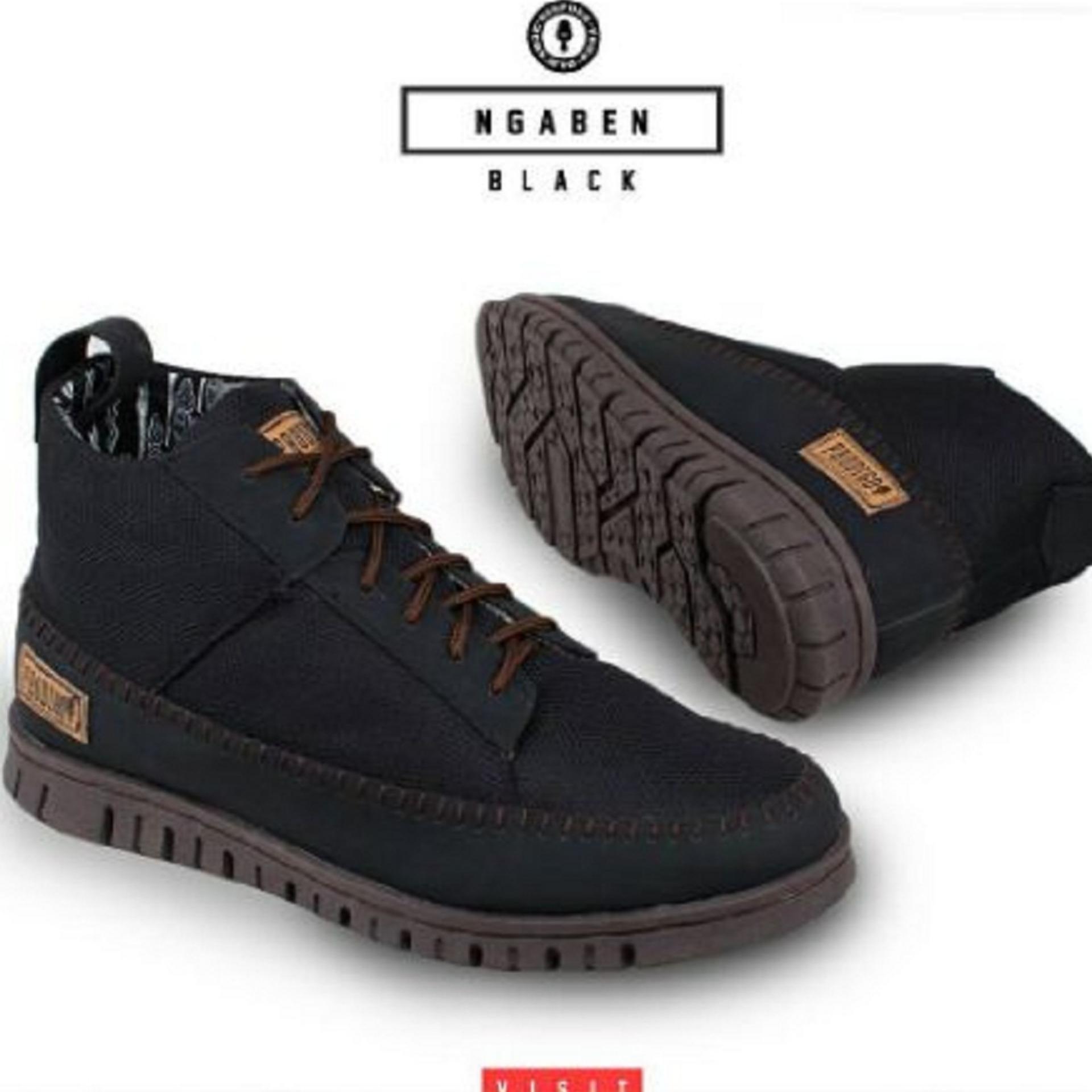 Harga Termurah Sepatu Sneakers High Pria Prodigo Ngaben Black Catenzo Super