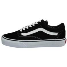 Sepatu Sneakers Vanz Oldschool Freestyle - Black White