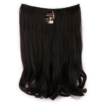 Seven 7 Revolution HairClip Short Wavy Black Big Layer 50 cm -HitamHair Clip Korea