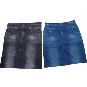 Shape Skirt Model Denim Rok Mini Jeans Seksi - Biru - 2